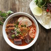 Vietnamese Bun Bo Beef Rice Noodles