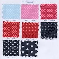 Cotton Poplin Dot Prints