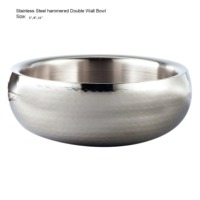 Hammered Double Wall Bowl