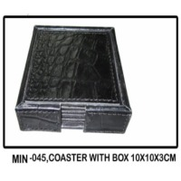 MIN-045, Coaster With Box 10x10x3CM