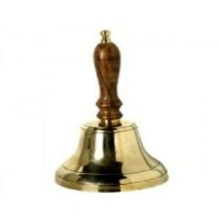 Wooden And Brass Bells Showpiece Table