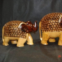 Wooden Animal Statue Showpiece