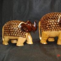 Wooden Animal Statue Showpiece