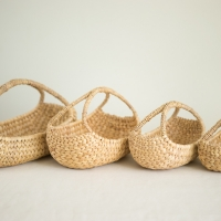 Basket Made From Warter Hyacinth