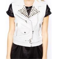 Ladies Leather Vest Coat