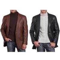Mens Leather Blazer / Coat
