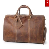 Genuine Leather Travel Overnight Duffel Bag Gym