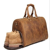 Leather Travel Overnight Luggage Duffel Bag