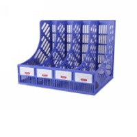 4-Slot Magazine File Desk Organizer Rack