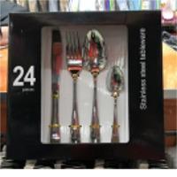 Knives, Spoon, Forks Set 24pcs