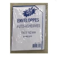 114x162mm Peel And Seal Envelope 80G