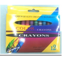 Wax Crayon, 11x93mm, 12 Colors