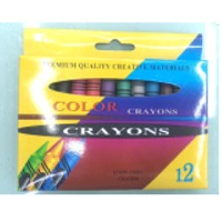Jumbo Wax Crayon 14MMX100mm, 12 Colors, Thick
