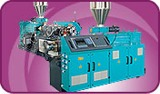 Conical twin-screw extruders