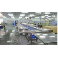 SS Shrimp Pan Setting Conveyor