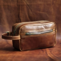 Dop Kit Leather Bag