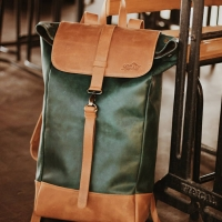 Roll Top Leather Bag