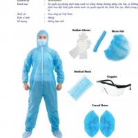 Medical Protective Coverall Suit Set
