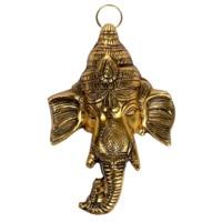 Lord Ganesha Face Wall Door Hanging Metal