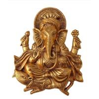 Metal Ganesh Idol Statue Wall Hanging