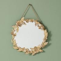 Round Leaf Mirror