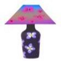 Long Black Flower Table Lamp