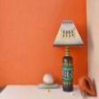 White Warli Table Lamp
