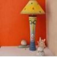 Long Buddha Table Lamp