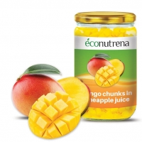 Organic Mango Pieces in Pineapple Juice
