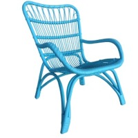 Blue Rattan Chair
