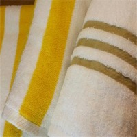 Stripe Terry Towels And Polyester Weft Towels