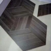 Chevron Oak Inlaid Floor Parquetry Wood Flooring