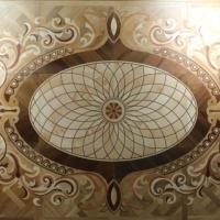 Versailles Oak Walnut Inlaid Wood Floor