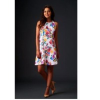 Casual White Floral Summer Dress