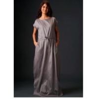 Casual Grey Maxi Dress
