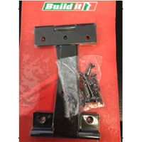 Tee Hinge (Black/Zinc) Pair Carded