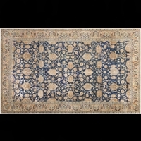 Kalaavlokan Blue Trends Hand-Knotted Carpets
