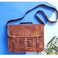 Vintage Leather Bag, Laptop Bag