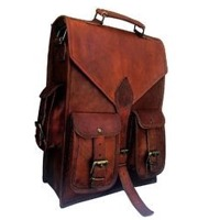 Vintage Leather Backpack, Laptop Bag