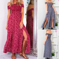 Woman Sexy Flora Splitl Long Dress