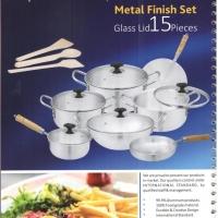 Glass Lid - Metal Finish Set