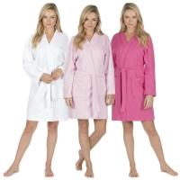 Lightweight Waffle Bath Robe Dressing Gown