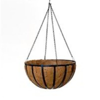 Coir Round Hanging Basket With Hangers