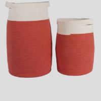 Fashionable Cotton Rope Storage Basket,  Bott