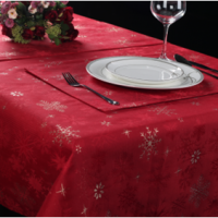 Christmas Table Cloth Runner Napkin Placemat
