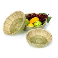 Bamboo Cane Wicker Basket Rattan Storage
