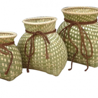 Bamboo Basket Small Storage For Kids Toys