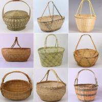 Bamboo Willow Wicker Rattan Basket Cane Storage