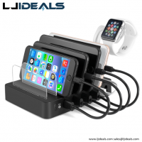 6 Port Usb Charging Station, Watch Holder , Type