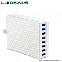 40w Multiple Usb 8 Ports Smart Phone Charger